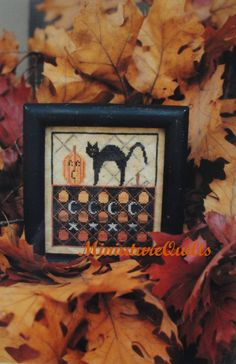 The Goode Huswife Jack the Halloween Cat & Full Moon 2 Cross Stitch Charts for Sale via Etsy.