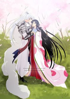 Inu no Taisho and Izayoi (InuYasha's parents) - InuYasha; fan art