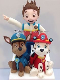 Paw Patrol Cake Toppers A few characters of Paw Patrol serie cake. Funny huh???   Visit my Facebook page: https://www.facebook.com/pages/A...