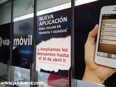 Rotulación Marquesina de Vía - Móvil. ¿te interesa? Contacta con nosotros. #rotulacion #vehiculo #tranvia #publiservic #marquesina Mp3 Player, Shopping, Advertising