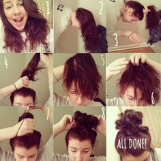 Super Easy Messy Bun