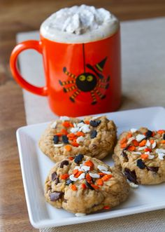 Halloween Peanut Butter Chocolate Chip Cookies