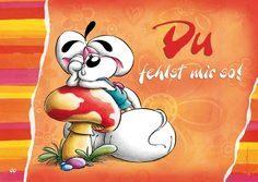 Du fehlst mir so! | Diddl | Echte Postkarten online versenden | Diddl Tatty Teddy, Tu Me Manques, Creative Pictures, Love You So Much, To My Future Husband, Miss You, Tigger, Disney Characters, Fictional Characters