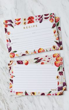 Winter recipe card and gift tag printable recipe cards free farmers market peach and eggplant 2017 summer recipe card free printable inspired by charm negle Gallery
