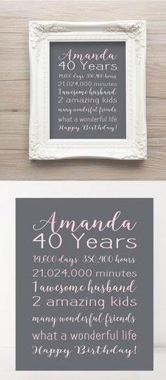 Back In 1977 40th Birthday PRINTABLE Sign 40th by TalkInChalk