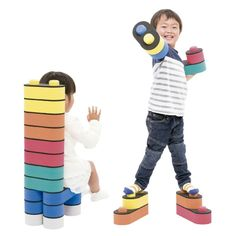 B-block 30 Educational Exercise Building Toy Sponge Blocks for Kids JAPAN 1364 #Bblock