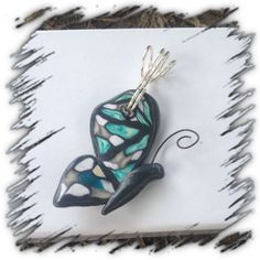 Cathedral Window Half butterfly pendant