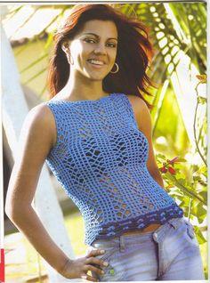 FANATICADELTEJIDO2WEB: blusa azul
