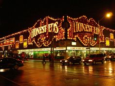 Toronto - Honest Ed's is a landmark discount store that opened in 1948...much of the store's decor consists of posters and photos from old films and stage productions from Mirvish's theatres in Toronto and London, England.