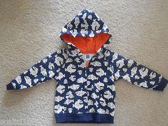 $15.72 Carter's Fish Hoodie Jacket 12 month Navy Blue Cream Orange LNC Boys Girls