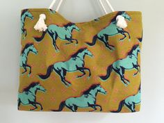 Horse Lovers Bag Mustang Horse Tote Bag Abstract by ActiveBrit