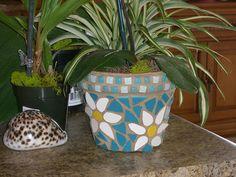 mosaic flower pot by crystalynna, via Flickr