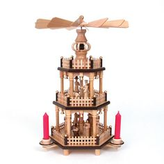 3-Tier Historical Christmas Pyramid--we had one when I was a little girl and I would watch the different levels spin for hours.