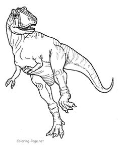 Free Printable Tyrannosaurus Dinosaur Coloring Pages Are Fun For Kids
