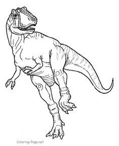 Dinosaur coloring page - Printable Tyrannosaurus