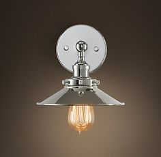 Restoration Hardware S C Factory Filament Metal Sconce Evoking Industrial Lighting Our Reproductions Of Vintage Fixtures Retain The Classic Lines And
