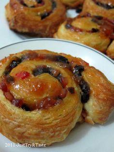 Obsesi Roti 2: Pain au Raisin (Roti Gulung Kismis)   Just Try & Taste