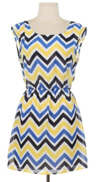 Colorful Chevron Print Dress, $30.50+tax SHIPPED, 2S-2M-SOLD OUT OF LARGE!    Click here to order: https://www.facebook.com/pages/Beyoutiful-Boutique/130526490466365