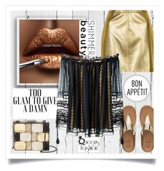 """""""Too glam to give a damn """" by missdee-93 ❤ liked on Polyvore featuring NLXL, Sondra Roberts, FitFlop, Truths, Topshop and Chloé"""