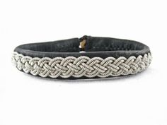 "Sami Lapland Swedish Bracelet Reindeer Leather Frost (6.75"" - 7.00"") (7 Inches) Nordic Art & Design. $75.00. Exquisite reindeer leater. Handmade by skilled artisans. Topgrade pewter strands, 4% silver"