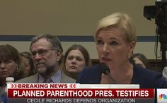 """Planned Parenthood Exec saying the word """"BABY"""" !!! This has got to be a first! But watch hear LIE about botched abortions!!"""