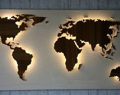 Browse unique items from merkecht on Etsy, a global marketplace of handmade, vintage and creative goods. World Map Decor, World Map Wall Art, World Maps, Bedroom Vintage, Vintage Decor, Background Vintage, Handmade Home Decor, Handmade Items, Wall Design