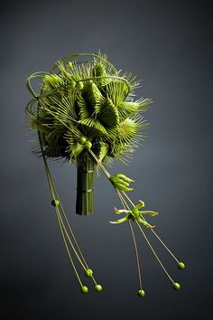 Featured in the Floral Art 2012. My all time favorite wedding bouquet made out of maple fruits :)