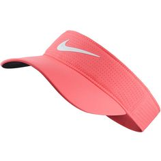 Women's Nike AeroBill Perforated Visor (1.130 RUB) ❤ liked on Polyvore featuring accessories, sports accessories and light pink