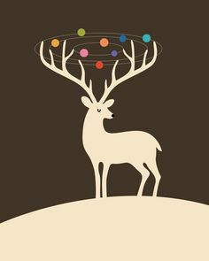 My Deer Universe Art Print by Andy Westface | Society6
