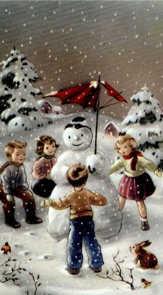 Vintage Christmas.. This made me have a crazy idea about making a shadow box snowglobe