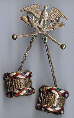 WW II Eagle Drum Pin