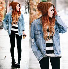 Pants- Mia & Moss, Jacket- The Trash Rack, Sweater- She Likes,  Sandals- Dr Martens, Beanie- STHeart (by Lua P)