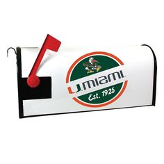 Miami Hurricanes Magnetic Mailbox Cover, Multicolor