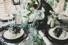 Casa Feliz: Raven Styled Wedding Inspiration   Claire Pacelli Photography   Michele Butler Events   Lee Forrest Design   A Chair Affair Event Rentals