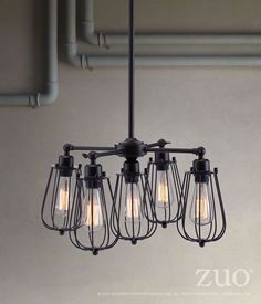 Zuo Porirua Ceiling Lamp Distressed Black – Modish Store
