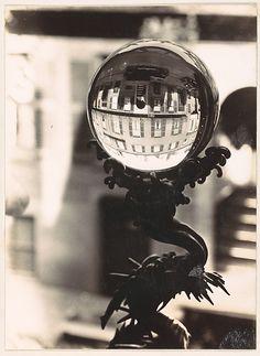 Walker EVANS :: Crystal Ball on Sill, West Cedar Street, Beacon Hill, Boston, Massachusetts, 1930-31