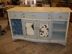 my painted and repurposed buffet