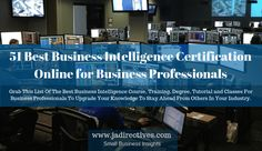 51 Best Business Intelligence Certification Online for Business Professionals 2019