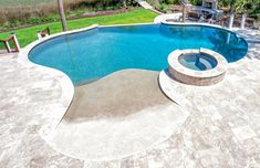 Swimming pool pictures of beach entries and zero entries. Small Backyard Pools, Backyard Pool Designs, Swimming Pools Backyard, Swimming Pool Designs, Pool Landscaping, Outdoor Pool, Pool Spa, Backyard Ideas, Swimming Pool Pictures