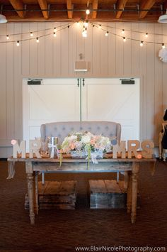 I love the idea of the bride and groom sharing a vintage love seat...Buy one to furnish your house with after the wedding or rent one from your local rental company.  Encore Events Rentals in Petaluma has some great options in their lounge furniture collections!