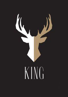 Affiche scandinave KING - Produit numérique