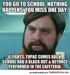 When You Miss School
