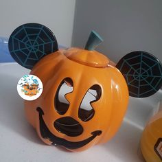 "Magic Moment Shoppers, LLC on Instagram: ""Pumpkin Mickey candle holder $11.99 before service fee and shipping Service fee: minimum $5 or 23% of the total purchase before tax…"" Halloween 2017, Pumpkin Carving, Candle Holders, Magic, Candles, In This Moment, Instagram, Pumpkin Carvings, Porta Velas"