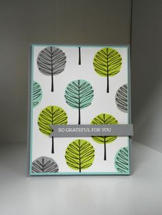 CTD413 - Totally Trees in Gray, Aqua & Lime Green - See this image on Photobucket.
