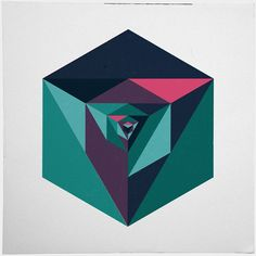 #240 Implosion – A new minimal geometric composition each day  Tagged print, poster, abstract, geometric, geometry
