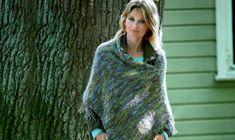 Strik selv: Nem poncho for begynderen fra Hendes Verden Turtle Neck, Crochet Hats, Knitting, Sweaters, Dresses, Smuk, Space, Creative, Google