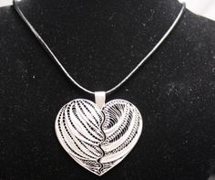 Filigree heart pendant