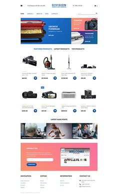 Home Electronics Online Store #Virtuemart #template. #themes #business #responsive
