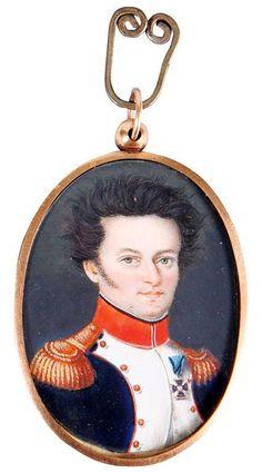 Portrait of a colonel from Duchy of Warsaw army / Portret pułkownika Wojska Polskiego Historical Art, Warsaw, Napoleon, Empire, Polish, Pendant Necklace, Portrait, Accessories, Jewelry