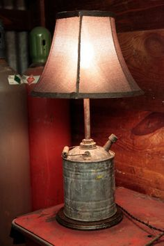 I have converted a few items into lamp's but not a gas can.
